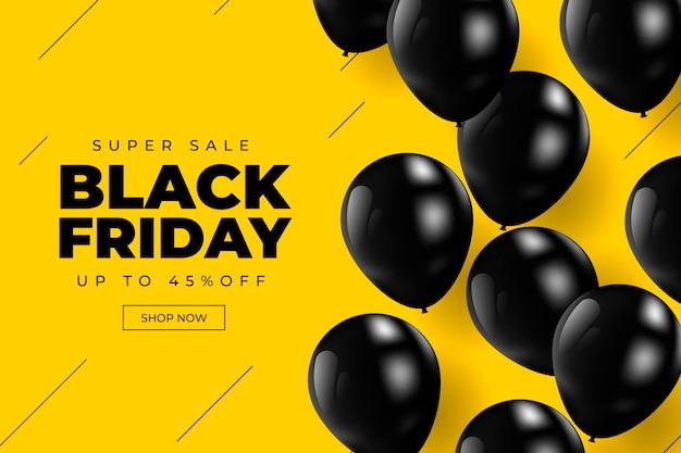 Concepto realista de viernes negro