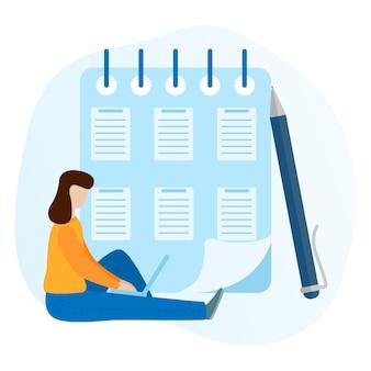 Concepto de realización exitosa de tareas de negocio. lista de verificación del portapapeles.