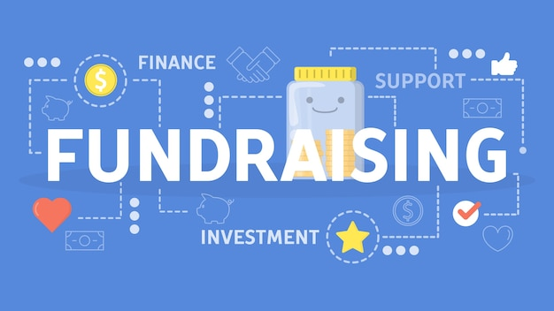 Concepto de recaudación de fondos. idea de caridad y donación.