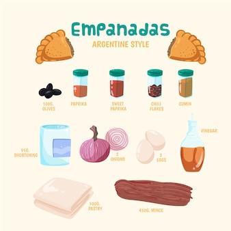 Concepto de receta de empanada