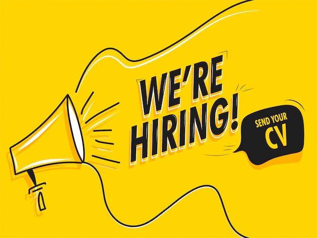 Concepto de reclutamiento de trabajo.