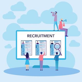 Concepto de reclutamiento de trabajo