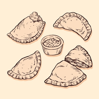 Concepto de recogida de empanada