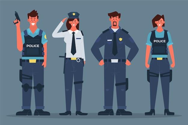 Concepto de recogida de la policía