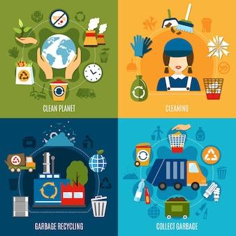 Concepto de recolección de basura