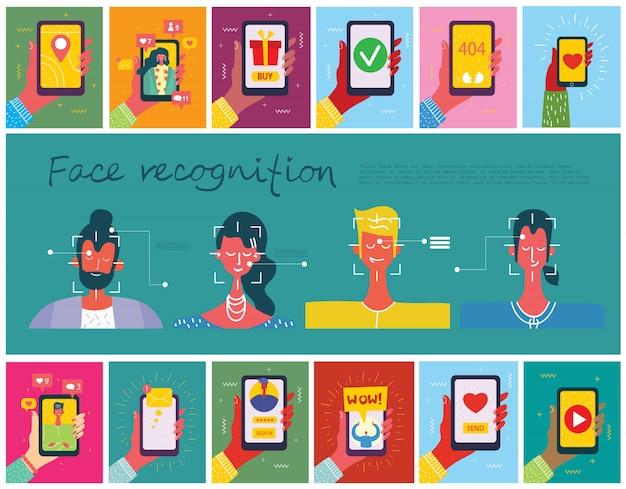 Concepto de reconocimiento facial