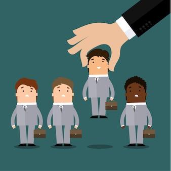 Concepto de recursos humanos, contratación o reclutamiento