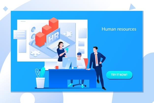 Concepto de recursos humanos de negocios