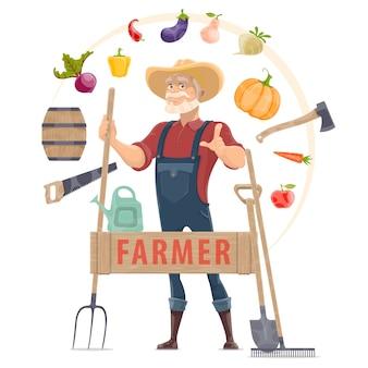 Concepto redondo de elementos agrónomos