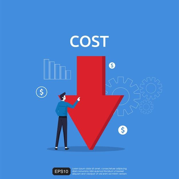 Concepto de reducción de costos