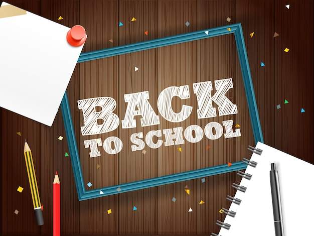 Concepto de regreso a la escuela. bandera de letras