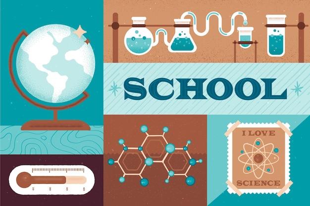 Concepto de regreso a la escuela de ciencias