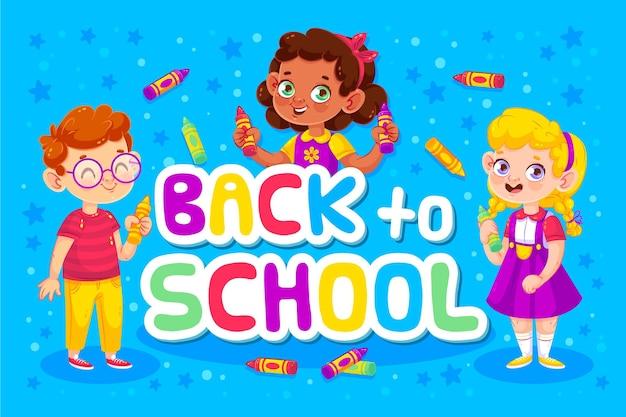 Concepto de regreso a la escuela y niños