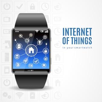 Concepto de reloj inteligente de internet