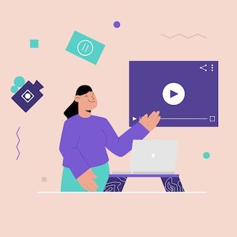 Concepto de reproductor multimedia de video