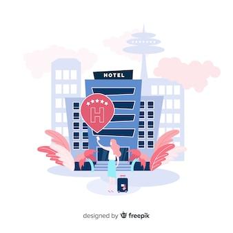 Concepto de reseña de hotel