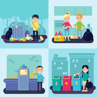 Concepto de residuos planos