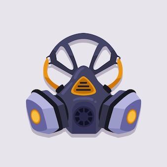 Concepto de respirador de máscara de gas