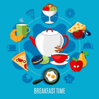 Concepto de restaurante de desayuno