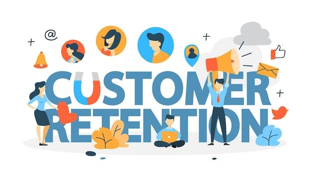 Concepto de retención de clientes