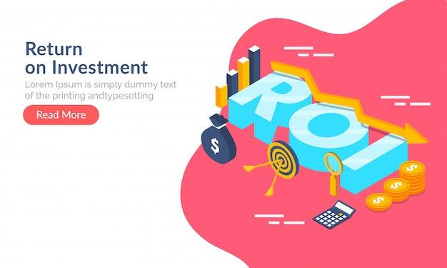 Concepto de retorno de la inversión (roi).