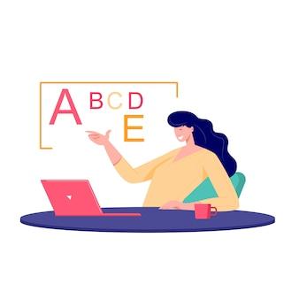 Concepto de reunión de clase en línea