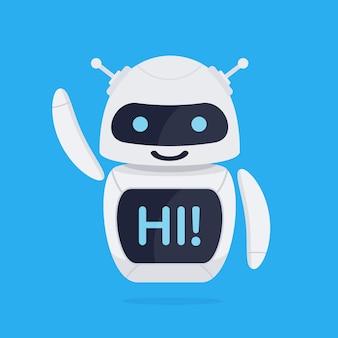 Concepto de robot chatbot.