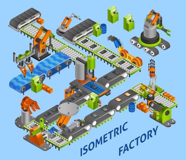 Concepto de robot industrial