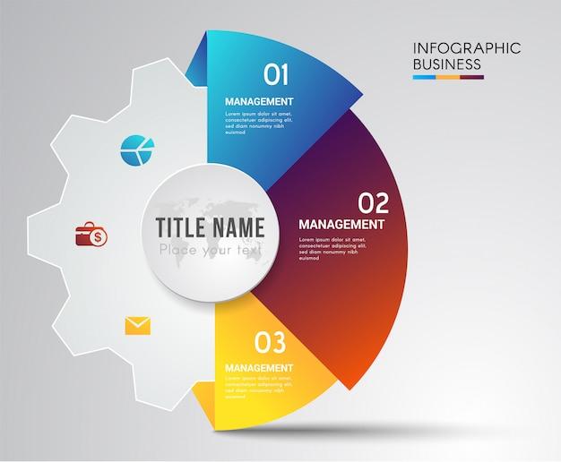 Concepto de rompecabezas infografía trabajo en equipo.