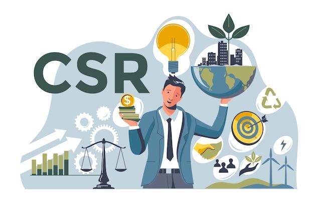 Concepto de rsc ilustrado plano
