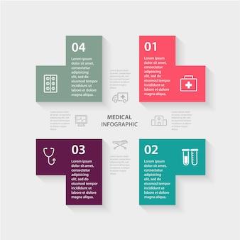 Concepto de salud médica con opciones