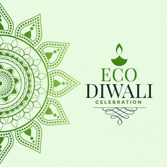 Concepto de saludo feliz festival orgánico diwali