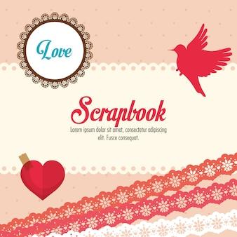 Concepto de scrapbook