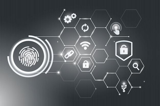 Concepto de seguridad biometrica