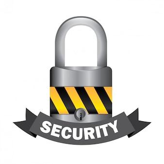 Concepto de seguridad con candado