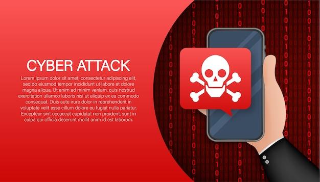 Concepto de seguridad cibernética. concepto de seguridad cibernética. protección contra el virus