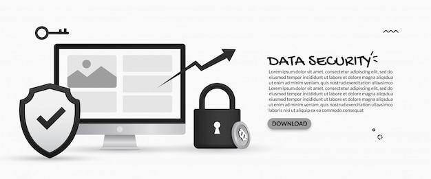 Concepto de seguridad de datos y protección de información personal
