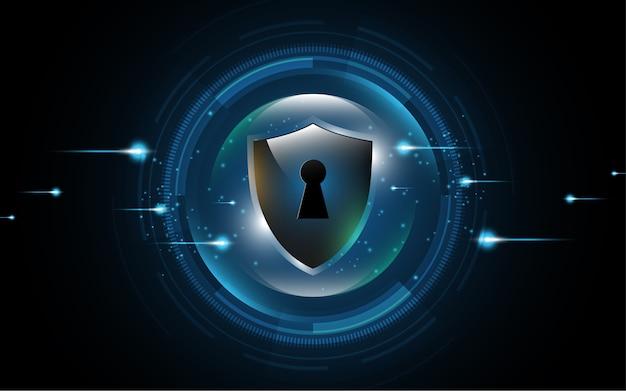 Concepto de seguridad de escudo de protección 3d protegido