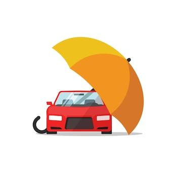 Concepto de seguro de automóvil, protección automática