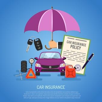 Concepto de seguro de coche
