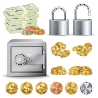 Concepto seguro de finanzas
