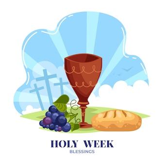 Concepto de semana santa de diseño plano