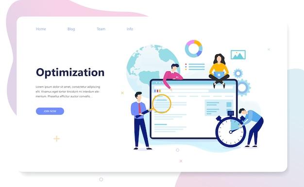 Concepto de seo. idea de optimización de motores de búsqueda para sitios web