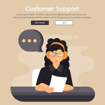 Concepto de servicio de atención al cliente empresarial