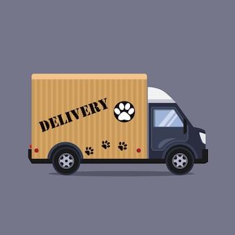 Concepto de servicio de entrega de ilustración de estilo plano