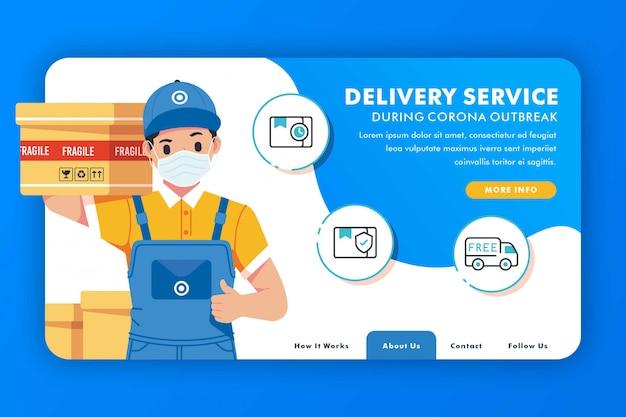 Concepto de servicio de entrega en línea