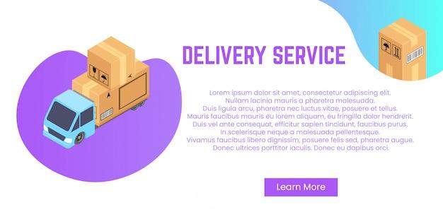 Concepto de servicio de entrega. pila de cajas para envío, reubicación.