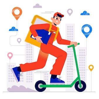 Concepto de servicio de entrega
