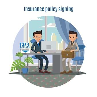 Concepto de servicio de seguro de coche