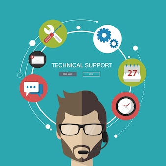 Concepto de servicio de soporte